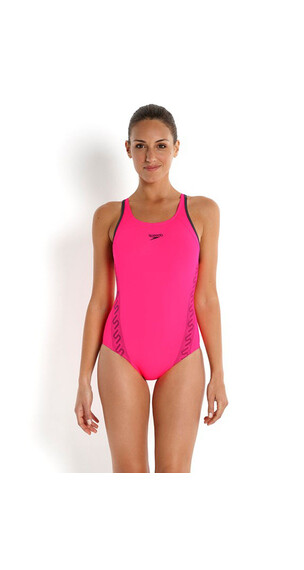 speedo Monogram Muscleback Women Flou Pink